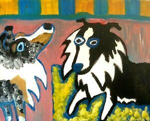 SHELTIE Abstract Art Print 4 x 6 | Collectible Artist KSams | Shetland Sheepdog