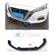 For Nissan Altima 2019 Carbon Fiber Bumper Lip Spoiler Molding Cover Trim 4pcs