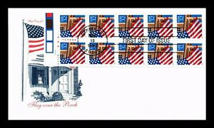 DR JIM STAMPS US FLAG OVER PORCH BOOKLET PANE FIRST DAY COVER UNSEALED