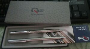 Vintage Quill Chrome Pen and Pencil set UAW Local 488 25th anniversary in box