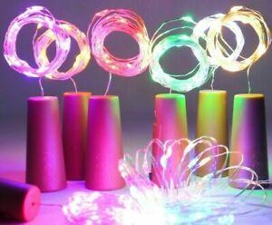 LED Wine Bottle Lights 20LEDs Cork Shape Copper Wire Colorful Mini String Light