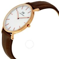 New Authentic Daniel Wellington DW00100039/0511DW Womens Watch Rose Gold Ion-pla