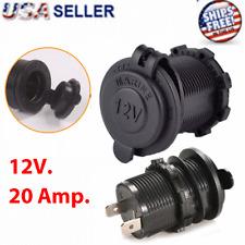 12V Car Cigarette Lighter Socket Outlet Charger Power Adapter Plug Waterproof SM