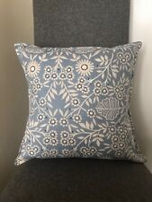 "NEXT Blue Creswell Floral Print Cushion-Cover 16"" Matches Next Bedding Curtains"