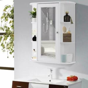 FCH Bathroom Wall Mirror Cabinet Medicine Cabinet Multipurpose Storage Organizer