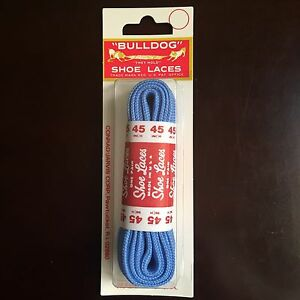 """Bulldog Blister Flat Athletic Shoe Laces 45"""" inches in Light Blue"""