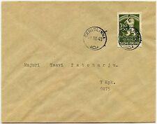 Finlandia CARELIA Orientale OCCUPAZIONE NAZIONALE raccolta di beneficenza su busta VFU 1943 FDC