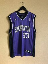 RARE 00 S NBA Adidas Sacramento Kings violet Home Jersey Moore #33 Moyen A2