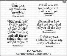 Our Daily Bread Designs Cling Stamp Set GOD VERSES H630 Seek first His Kingdom