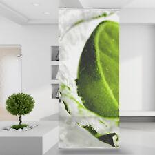 Raumteiler Vorhang Gardine Splash Lime Limette Grün Cocktail Natur Obst Wasser