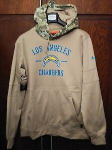 Nike Los Angeles Chargers 2019 Mens Sz Medium NFL Salute to Service Tan Hoodie