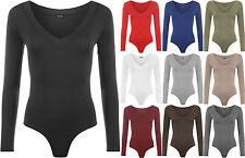 Women's No Pattern Long Sleeve Sleeve Hip Length Body Tops & Shirts