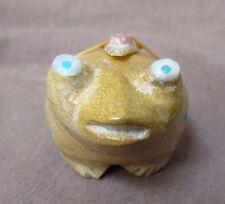 Native Zuni Zuni rock Google Eye Frog Fetish by Delvin Leekya C1135