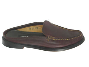 Ralph Lauren WomensLeather Loafers Mules Slides USA 6 B Brown Leather USA Made