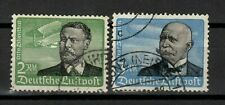 s31223) GERMANY 1934 USED Air Mail 2 high values 2dm + 3dm Zeppelin 2v