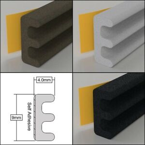 Stormguard EPDM Rubber Seal E Profile Self Adhesive Draught Excluder 5m / 10m