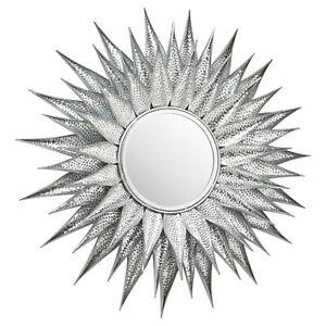 Silver Large Sunburst Mirror 90 cm