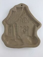Brown Bag Cookie Art 1989 Gingerbread House Shortbread Mold Christmas Stoneware
