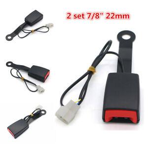 Universal 2Pcs 7/8'' Camlock Car Seat Belt Buckle Socket Plug Connector w/Cable