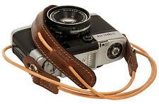 Brown leather cord neck strap for RF film Digital camera NEX E-P X10 Nikon Leica