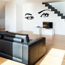 Sexy Eyes Wall Art sticker Vinyl room decal beauty salon ladys eyes lashes
