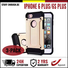 3IN1 Gold Armor Cover Cas Coque Etui Silicon Hoesje Case For iPhone 6+ 6S+ Plus