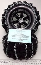 4 RC Snow Chains For TRAXXAS 77076-4 X-MAXX Fit 7772 7770 XMAXX AT Tires 8x4in