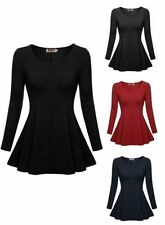 Batwing, Dolman Sleeve Unbranded Hand-wash Only Solid Tops & Blouses for Women
