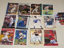 LOT OF 100 DIFFERENT AUTOGRAPHED BASEBALL CARDS-NO DUPES-RCS-STARS