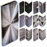 For OPPO Series - Steel Iron Metal Print Pattern Wallet Mobile Phone Case Cover