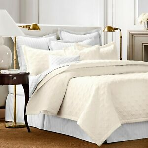 CHAPS Home Damask Quilted KING Coverlet Set, Slate, 210 Thread Count *new (READ)