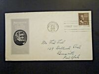 US SC# 812 FDC / Ioor Cachet /Mailed to Ford Frick at his Bronxville Home -Z5610
