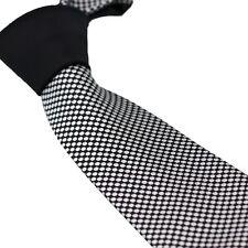 Coachella Ties Black Knot Contrast Black Silver Polka Dots Necktie Mens Neck Tie