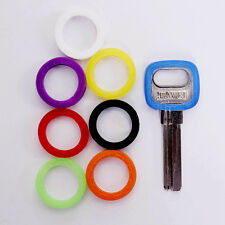 8pc Mixed Color Key Cap Covers Hollow Design Topper Keyring Bly Braille Silicone