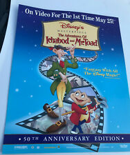 """DISNEY POSTER - THE ADVENTURES OF ICHABOD AND MR TOAD 22"""" x 28"""""""