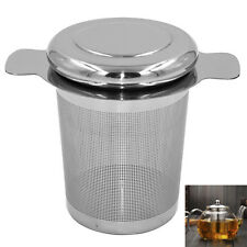 Ceramic Glass Stainless Steel Cup Strainer W/ Lid Tea Infuser Coffee Mesh Filter