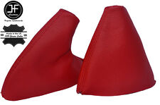 RED LEATHER SKIN MANUAL GEAR & HANDBRAKE GAITERS FITS MG MG TF 2002-2005
