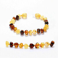 Genuine Baltic Amber Bracelet/Anklet Beads Knotted 14-20CM, 10 Colors