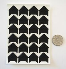Photo Corners Stickers - Black with Adhesive Backing - Scrapbooking NO 5