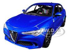 ALFA ROMEO STELVIO QUADRIFOGLIO BLUE 1/24 DIECAST MODEL CAR BY BBURAGO 21086