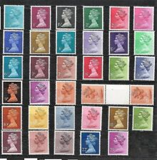 Great Britain MACHIN 34 Stamps MNH