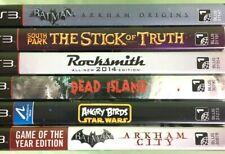 PS3 Lot of 6 games Rocksmith, Dead Island, South Park, Angry Birds Batman Arkham
