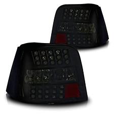 99-04 Volkswagen Golf IV Black/Smoke LED Tail Lights Pair