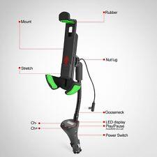Universal Car 3in1 360° Holder USB Cigarette Lighter Charger With FM Transmitter