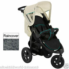 New Hauck Viper 3 wheeler pram pushchair buggy in Caviar Black/Beige+Raincover