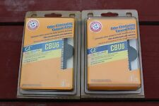 2 Arm & Hammer GE HEPA CBU6 Odor Eliminating mold fungi Vacuum Filters 63578