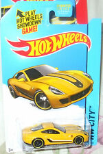 2015 Hot Wheels Hw City #21-250 Yellow Ferrari 599 Gtb Fiorano Ml 3+ Diecast Boy