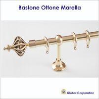 BASTONE TENDA OTTONE ORO ACCIAIO BASTONI PER TENDE  BASTONI TENDA RILOGA BINARI