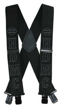 Harley-Davidson Men's HDMC Black Suspenders, Long Size 48 Inch SUS27675