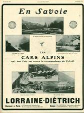 Publicité ancienne en Savoie automobile Lorraine Diétrich 1909 issue magazine